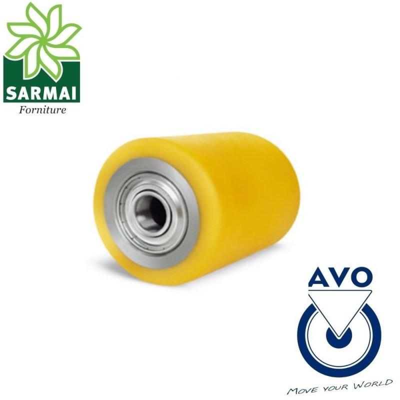 Rullo Ruota AVO 11 80x70 Foro 20 rivestimento in poliuretano per transpallet