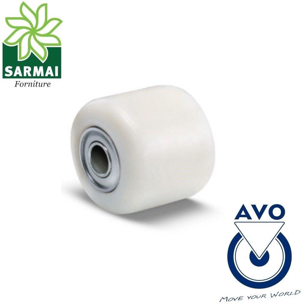 Rullo Ruota AVO 13 82x60 Foro 20 rivestimento in poliammide per transpallet