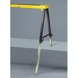 Coppia cavalletti richiudibili pieghevoli portata 300 Kg altezza regolabile