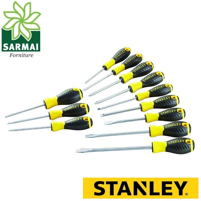 Stanley Set Essential 12 giraviti cacciaviti croce torx taglio isolati