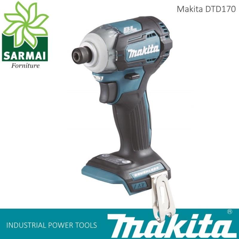 """MAKITA DTD 170 AVVITATORE AD IMPULSI MASSA BATTENTE 1/4"""" 175 Nm SOLO CORPO"""