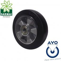Ruota AVO 16A 200x50 Foro 20 rivestimento in gomma nucleo in alluminio