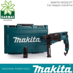 Makita HR2631FT SDS-PLUS TASSELLATORE MINI DEMOLITORE 800W + DOPPIO MANDRINO