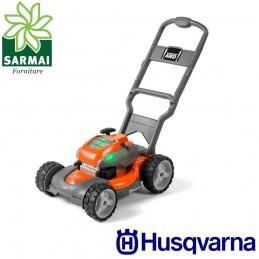Rasaerba tosaerba giocattolo Husqvarna messa in moto cordina suono reale