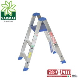 Marchetti PABLO scala scaletto alluminio doppia salita 3 gradini con piano
