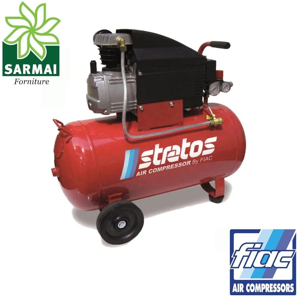 FIAC STRATOS 50 lt testata 170 l/m compressore coassiale carrellato elettrico
