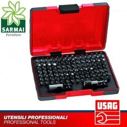 USAG 692 J100 1/4 ASSORTIMENTO 100 pz INSERTI STANDARD E SPECIALI + PORTAINSERTI