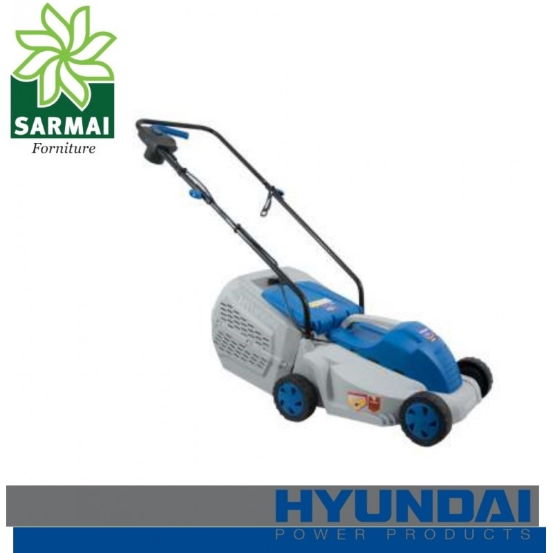 Rasaerba HYUNDAI ZF6117B tagliaerba a spinta elettrico 1200W prato giardini