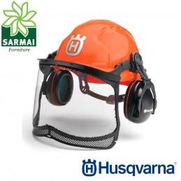 Casco elmetto forestale protettivo Husqvarna Classic con visiera e cuffie