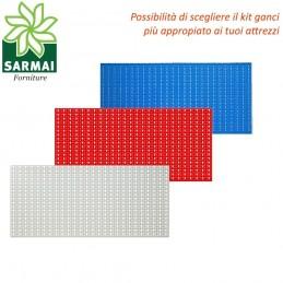 PANNELLO PORTAUTENSILI PORTA UTENSILI FORATO CM 100x50 CON KIT ACCESSORI GARAGE