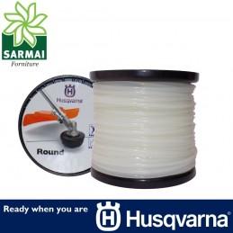 Husqvarna Round tondo bobina filo decespugliatore nylon Bianco Ø 3,3 mm 75 m