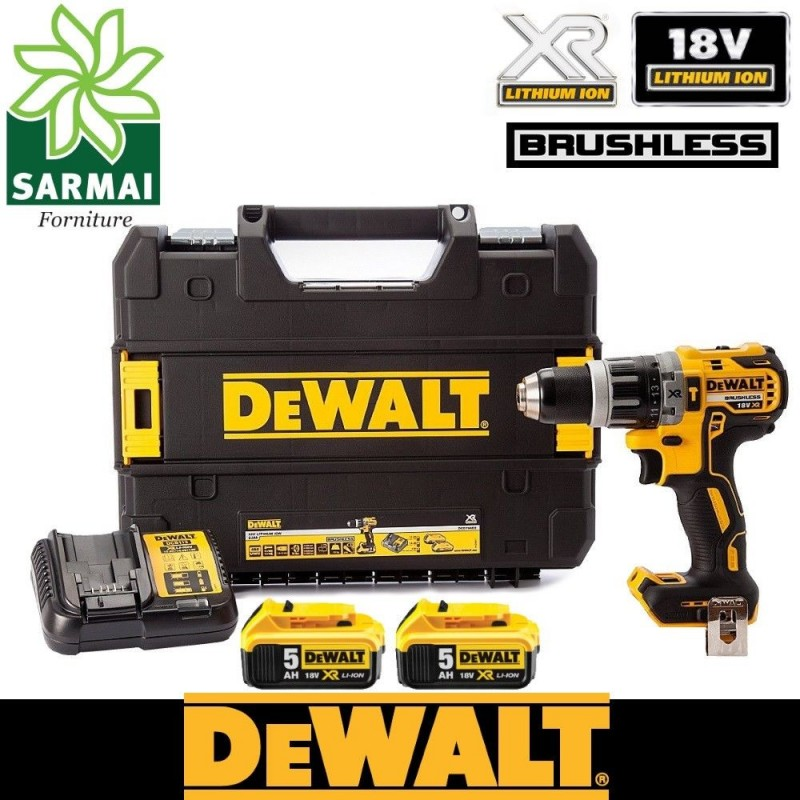 DeWALT DCD 796 trapano avvitatore XR 18V percussione BRUSHLESS + 2 batterie 5 Ah