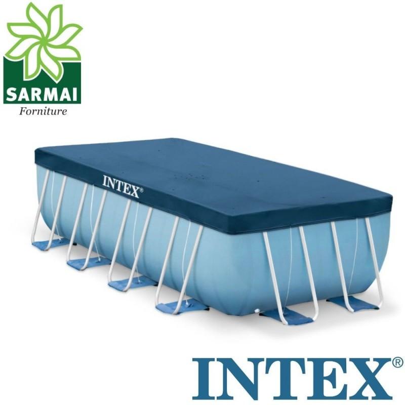 Intex 28037 telo copertura copri piscina frame con telaio 400 x 200 - Telo copertura piscina intex ...