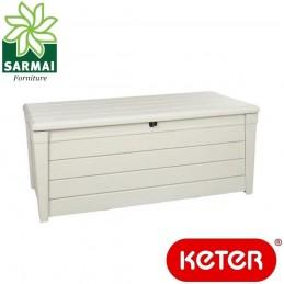 Keter POOL BOX 454L baule cassapanca per esterno e interno effetto legno 145 cm
