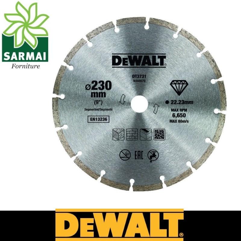 DeWALT DT3731-QZ DISCO DIAMANTATO SINTETIZZATO Ø 230 MM FORO 22,2 MM MURATURA