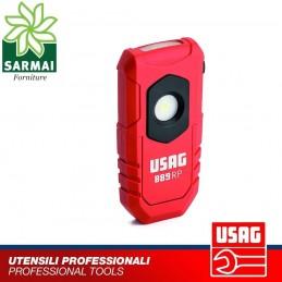 USAG 889 RP LAMPADA TORCIA LED COMPATTA DOPPIA FUNZIONE 180 LM RICARICABILE USB