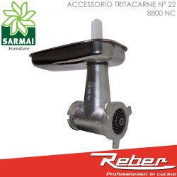 REBER OPTIONAL ACCESSORIO TRITACARNE CORTO N°22 8800 NC PER MOTORE 1200W E 600W