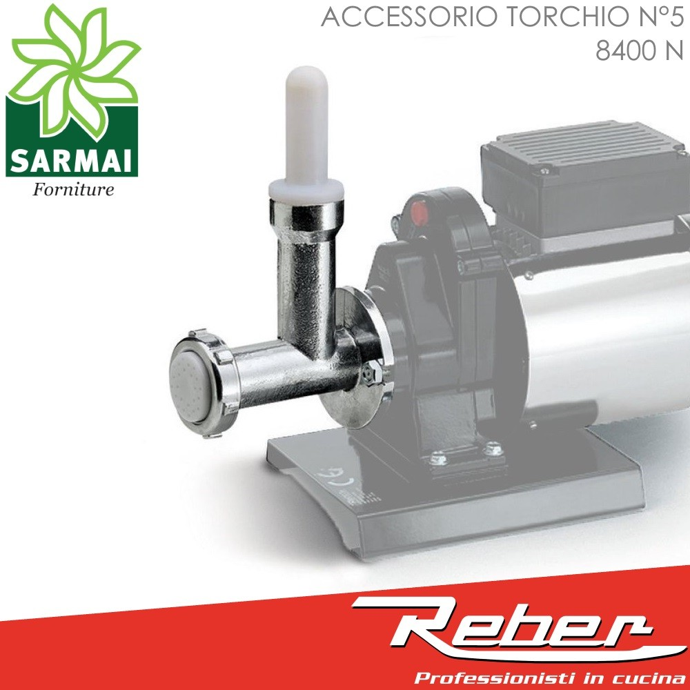 Torchio per pasta fresca ACCESSORIO OPTIONAL N° 5 REBER 8400 N 12 trafile