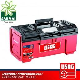 USAG 641 TC CASSETTA PORTAUTENSILI con vano porta miniature chiusura in acciaio