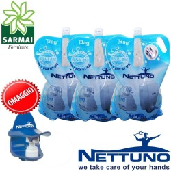 3 pz T-BAG 3000 ml NETTUNO MacroCream crema lavamani + OMAGGIO dosatore T-DUCK