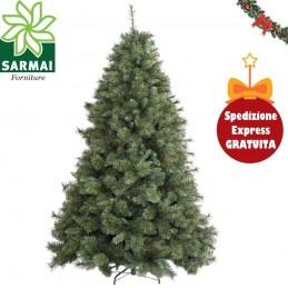 Albero di Natale ARTIFICIALE MILTON verde super compatto extra folto realistico