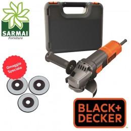 BLACK + DECKER BEG210KAC3 FLEX SMERIGLIATRICE ANGOLARE 115 mm 900W ANTI RIAVVIO