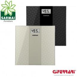 G3 FERRARI ORO NERO BILANCIA PESA PERSONE DIGITALE LCD 150KG AUTOSPEGNIMENTO