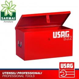 USAG 532 D BAULE CASSA CASSONE PORTAUTENSILI PORTA ATTREZZI METALLO 100x40x45cm