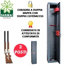 ARMADIO PORTAFUCILI DA 2 3 5 7 10 POSTI UTILIA SECURITY FUCILIERA BLINDATA PER ARMI