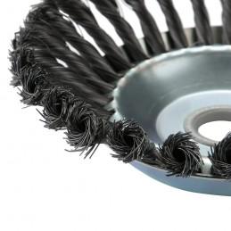 Spazzola conica testina decespugliatore universale ecologica in acciaio Ø 20 cm