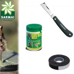 Kit per innesto piante con coltello Fiskars K60 mastice e nastro autoagglomerante