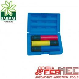 FERMEC 197LPS set 3 bussole esagonali 1/2 rivestite plastica cerchi lega