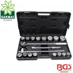 BGS 1202 cassetta 20 pz. cricchetto 50 cm chiavi a bussola 3/4 profilo esagonale