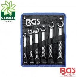 BGS 1745 serie 6 pezzi chiavi doppio anello aperto per raccordi tubi freni