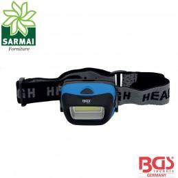 BGS 85314 lampada frontale professionale a COB-LED ultraluminoso da 3W 120 lumen
