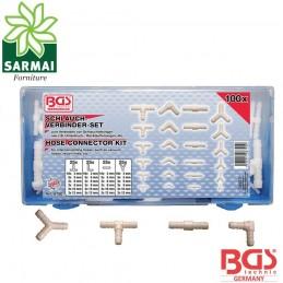BGS 8790 assortimento 100 pz connettori Y L I T in plastica per tubi ogni misura
