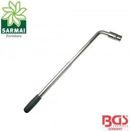 BGS 1510 chiave dadi ruota leva estensibile attacco quadro 1/2 bussola 17-19 mm