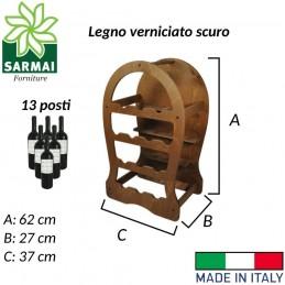 Cantinetta porta bottiglie vino arredamento cantina in legno verniciabile