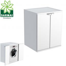 Armadio mobile con ante coprilavatrice asciugatrice da interno ed esterno