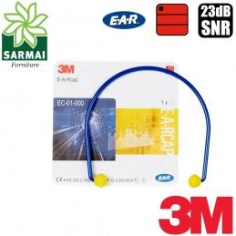 3M EC-01-000 Archetto auricolare flessibile tappo tappi a fasce antirumore 23 dB