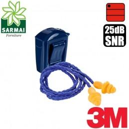 3M 1271 tappo tappi inserti auricolari con stelo 25 dB + custodia astuccio 50 pz