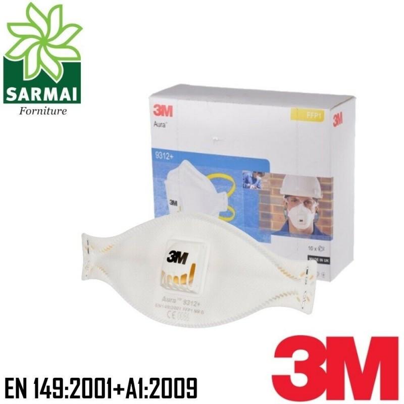 3M 9312+ Maschera mascherina respiratore facciale monouso anti polvere 10 PZ