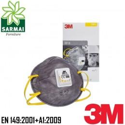3M 9914 Maschera mascherina respiratore facciale monouso carboni attivi 10 PZ