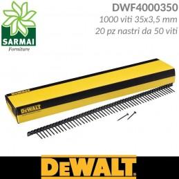 DeWALT DWF4000350 viti nastrate per cartongesso passo fine 35x3,5 mm 1000 pz