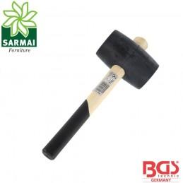 BGS 1862 Mazzuola martello in gomma testa Ø 75 mm manico in legno