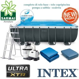 INTEX 26356NP NUOVA PISCINA FUORITERRA ULTRA XTR 549x279x132 cm + POMPA A SABBIA