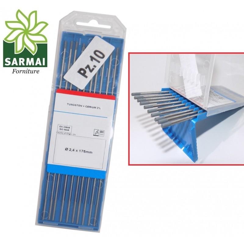 Elettrodi tungsteno cerio 2% WELDLINE per acciao e inox TIG colore GRIGIO vari Ø