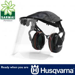 HUSQVARNA Cuffia cuffie protettive di protezione 27Db con visiera a norma EN1731