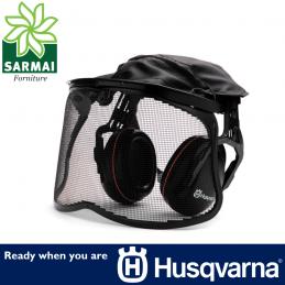 HUSQVARNA Cuffia cuffie protettive di protezione 27 Db con visiera a rete EN1731
