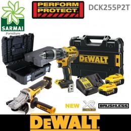 DeWALT DCK255P2T kit utensili BRUSHLESS XR 18V DCD796 DCG405FN con valigia TSTAK